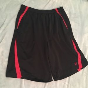 Black and Red Fila sports basketball/gym shorts